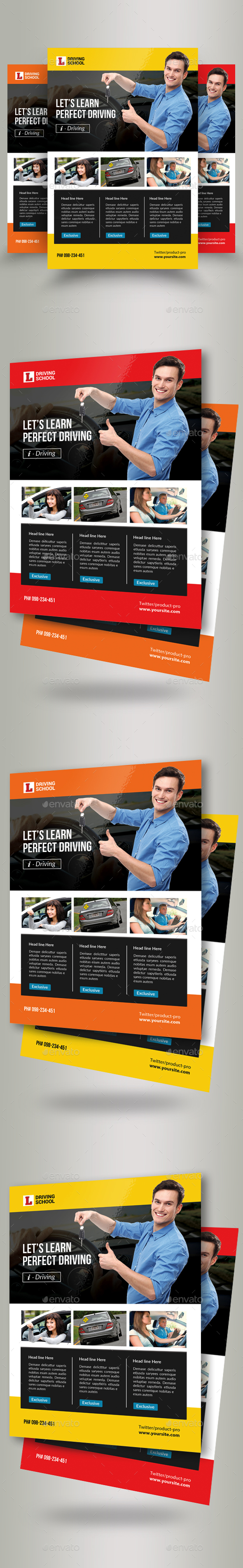 Driving School Flyer Template - Corporate Flyers