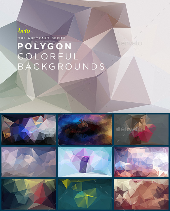 Polygon Abstract Backgrounds V4 - Abstract Backgrounds