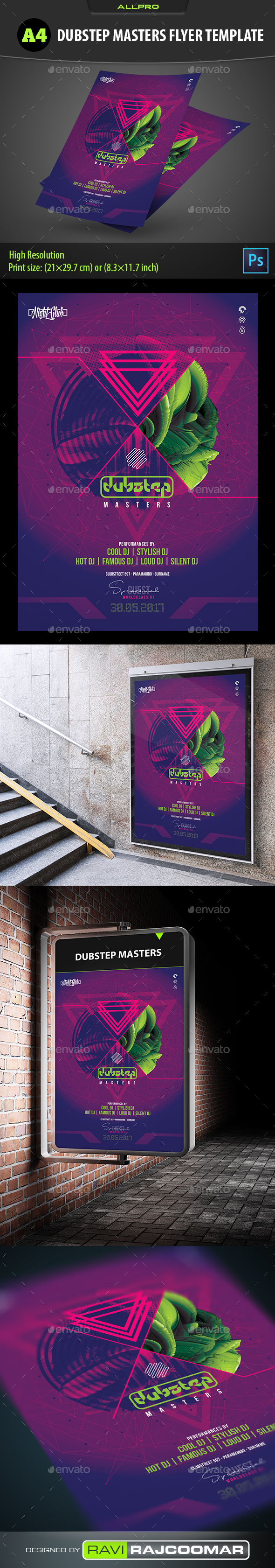 Dubstep Masters Flyer Template - Flyers Print Templates