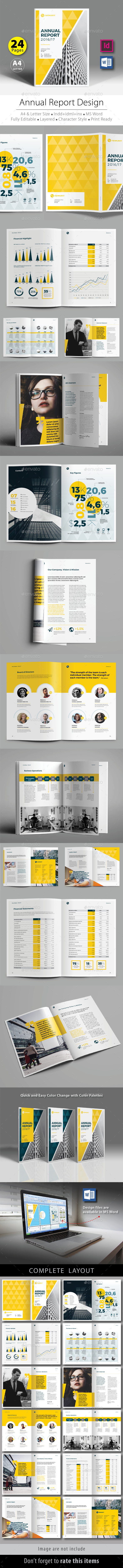 Annual Report Design Template V.6 - Corporate Brochures