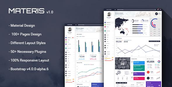 Materis – Bootstrap 4 Admin Template