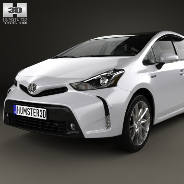 toyota prius plus 2015 by humster3d 3docean. Black Bedroom Furniture Sets. Home Design Ideas