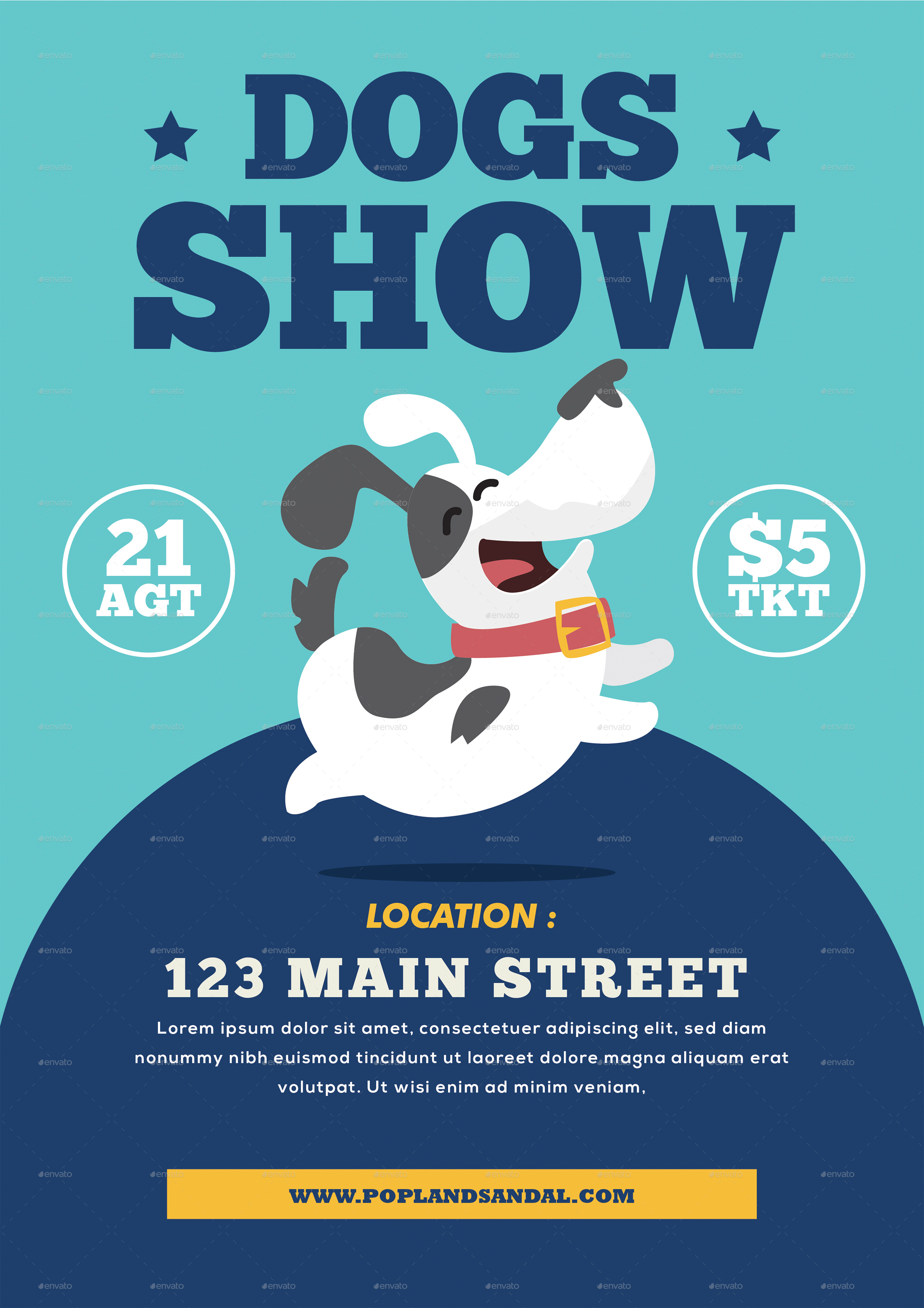 Dog Show Flyer by tokosatsu | GraphicRiver