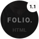 FOLIO. - Onepage Responsive Personal Portfolio Template