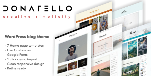 Donatello – Multiconcept WordPress Blog Theme