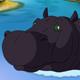 Big Black Hippopotamus Open his Mouth - VideoHive Item for Sale