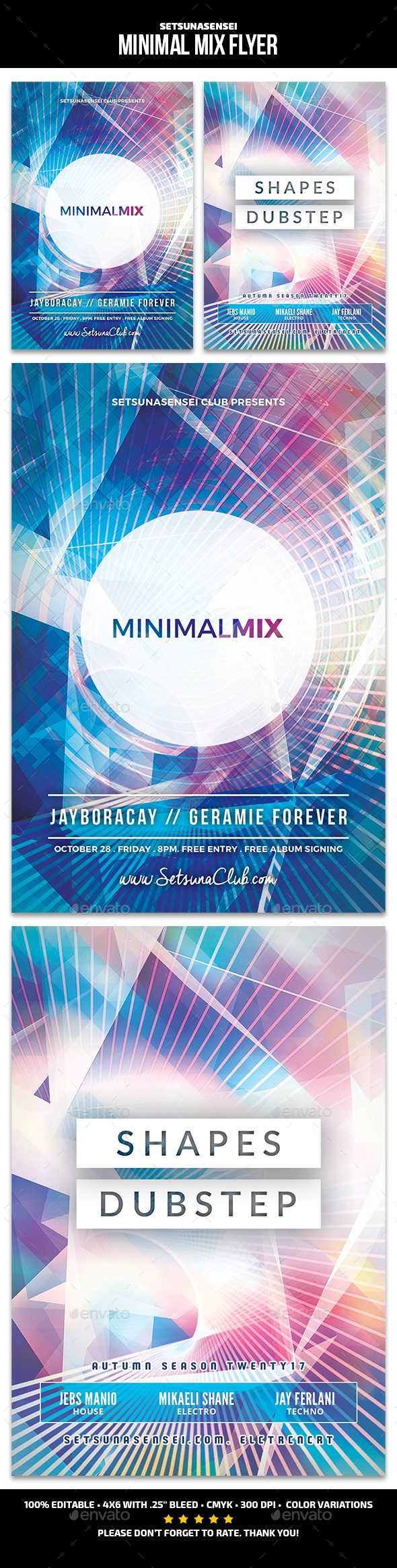 Minimal Mix Flyer - Clubs & Parties Events