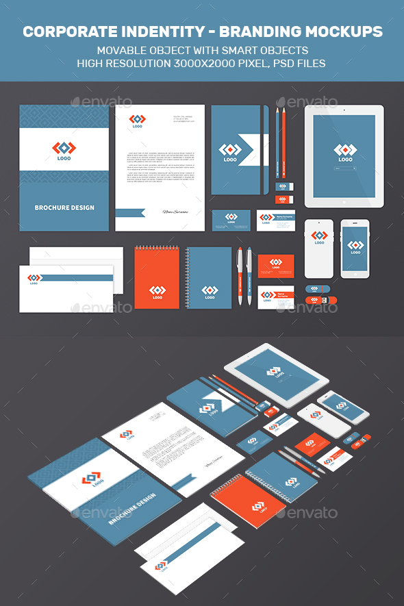 Branding Identity Mock-Up - Stationery Print