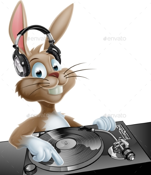 DJ Easter Bunny - Animals Characters