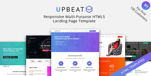 Image of UpBeat - Responsive Multi-Purpose Landing Page