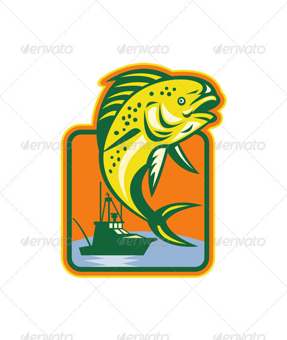 Dorado Dolphin Fish Mahi Mahi - Characters Vectors