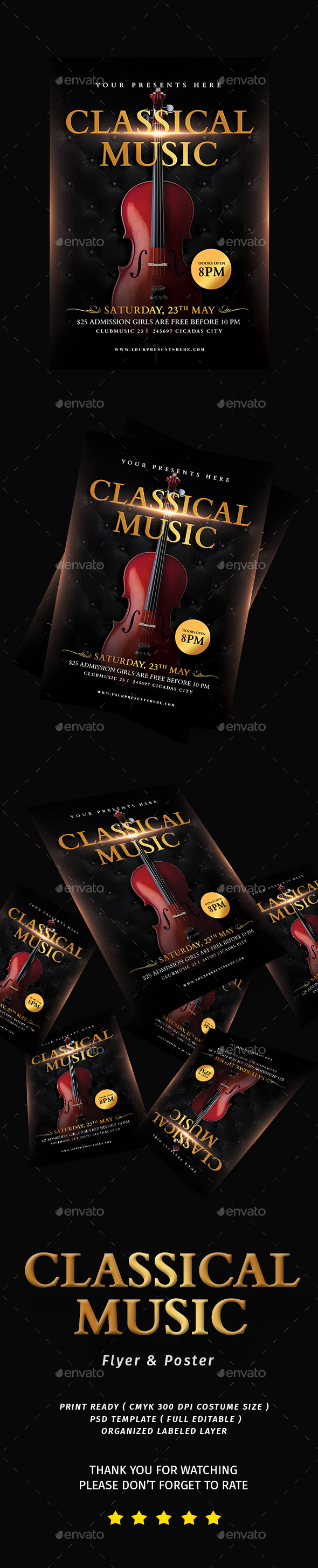 Classical Music Flyer - Flyers Print Templates