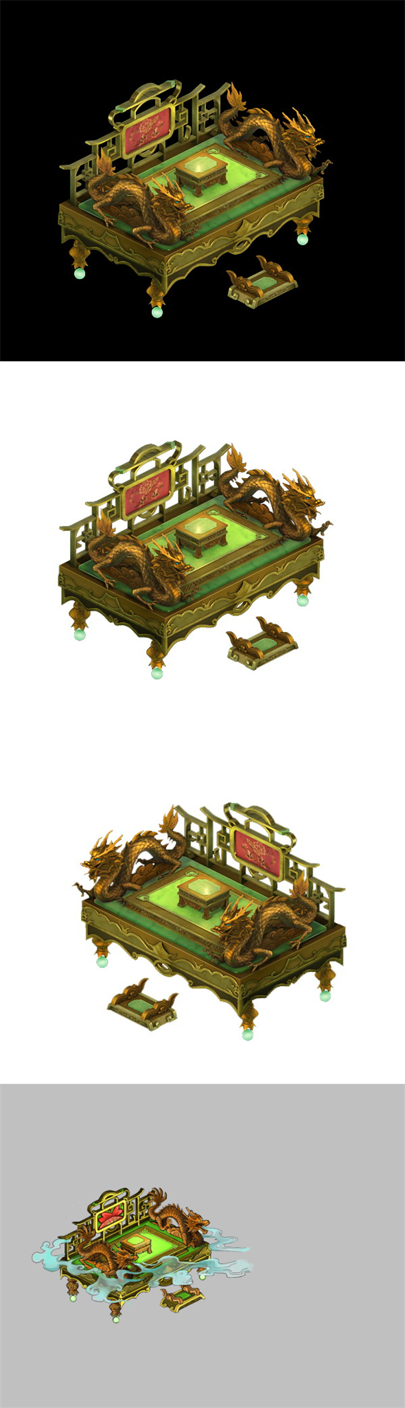 Game Model - Family Objects - Beds 03 - 3DOcean Item for Sale