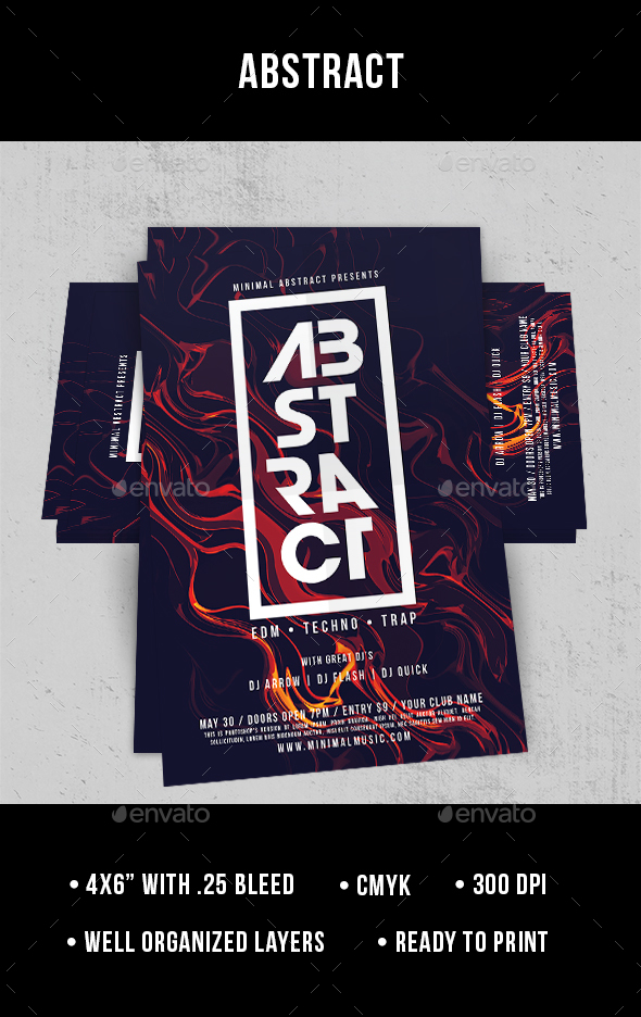 Abstract - Flyer - Clubs & Parties Events
