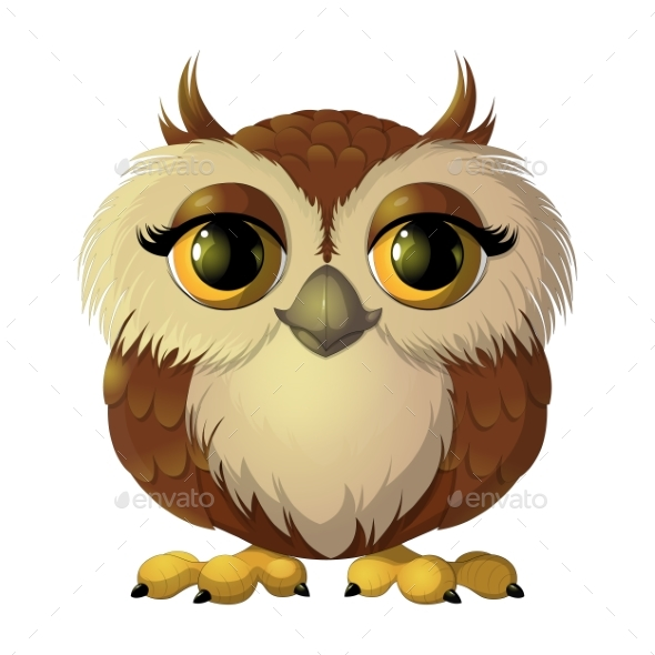 Brown Owl - Animals Characters