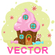 "Vector illustration ""Muffin House"" - GraphicRiver Item for Sale"