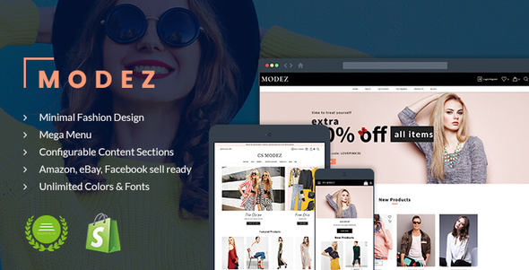 Image of Modez - Minimal Fashion Responsive Shopify Theme - Sections Drag & Drop