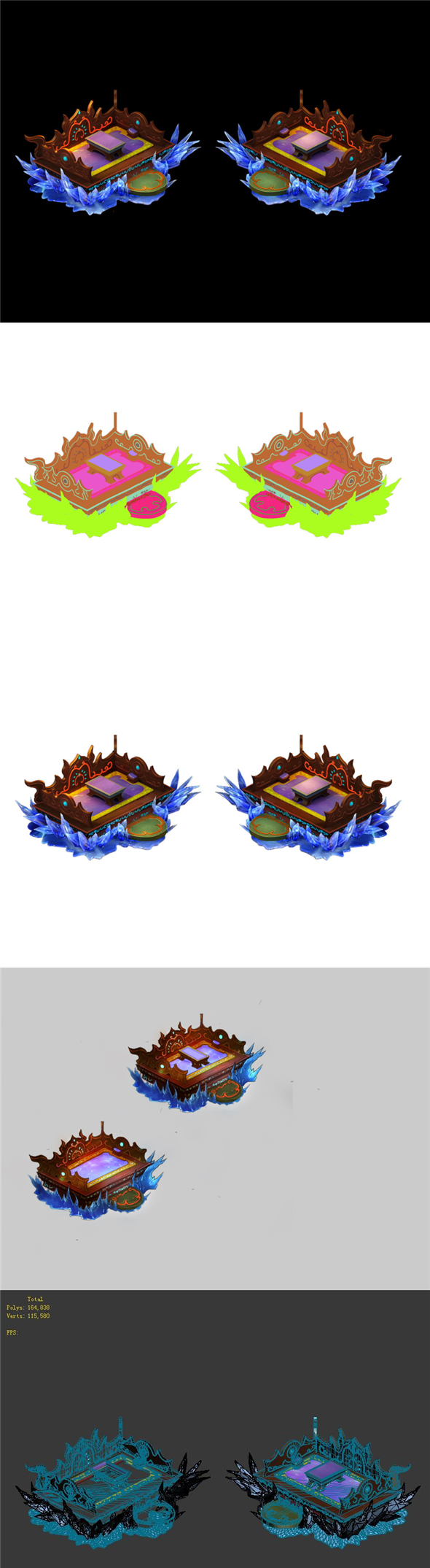 Game Model - Home Interior Objects - Bed Cushion 02 - 3DOcean Item for Sale