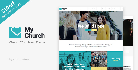 My Church - Church WordPress Theme with Events, Donations & Sermons - Churches Nonprofit