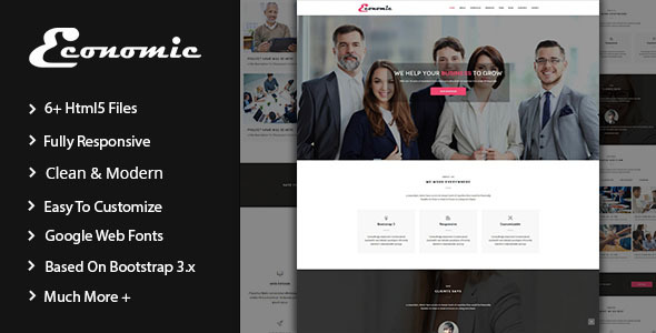 Economic – Corporate Html5 Template