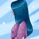 Girl with blue hair - GraphicRiver Item for Sale