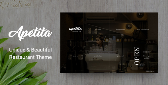 Apetita - WordPress Restaurant Theme - Restaurants & Cafes Entertainment