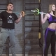 Sport, Fitness, Lifestyle and People Concept - Man and Woman with Barbell Exercising in Gym - VideoHive Item for Sale