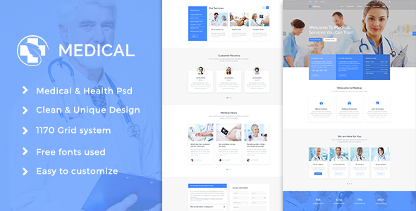 Medical Health Psd Template