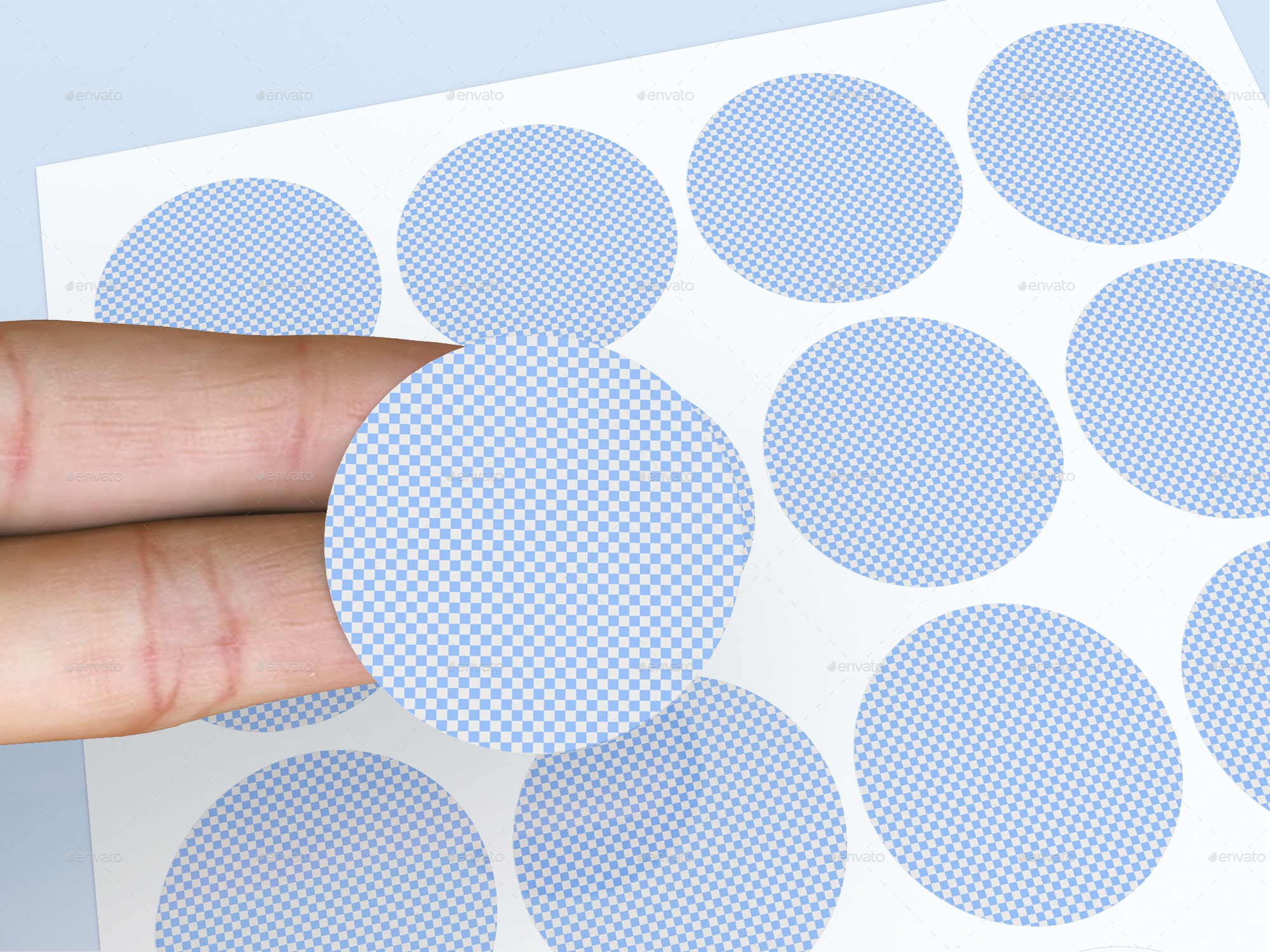 round circular labels and stickers mock up by sanchi477
