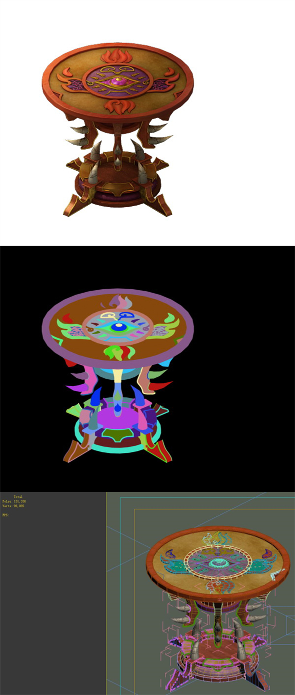Game Model - Family Objects - Ghost Soul Table 2 - 3DOcean Item for Sale