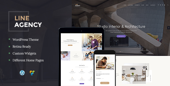 Line Agency | Interior Design & Architecture WordPress Theme