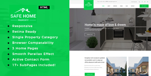 Safehome | Real Estate Single Property HTML5 Template