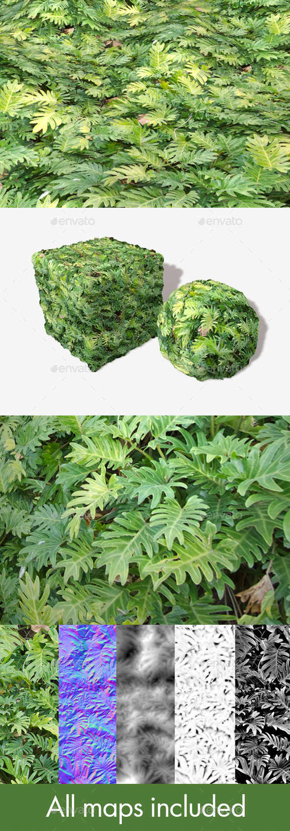 Dense Jungle Leaves Seamless Texture - 3DOcean Item for Sale