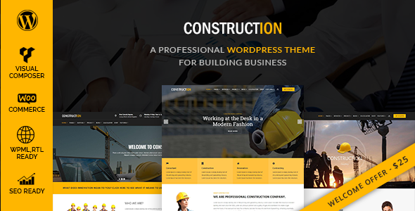 Construction – A Professional WordPress Theme for Construction & Building Business