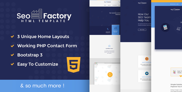 SEO Factory - SEO Agency, Social Media Agency, Digital Marketing Agency Template