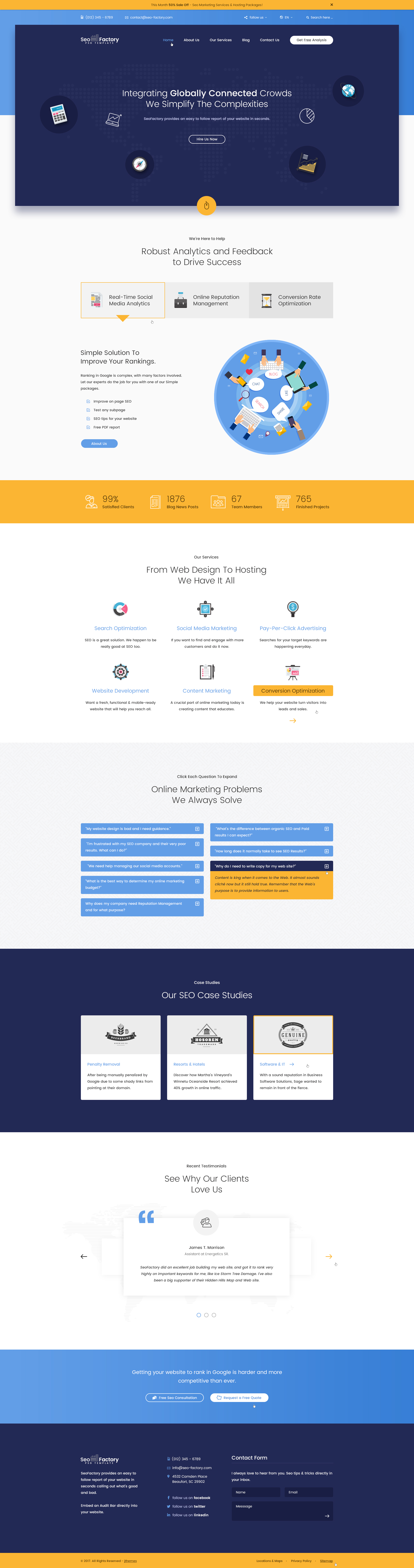SEO Factory - Digital Marketing Agency HTML Template
