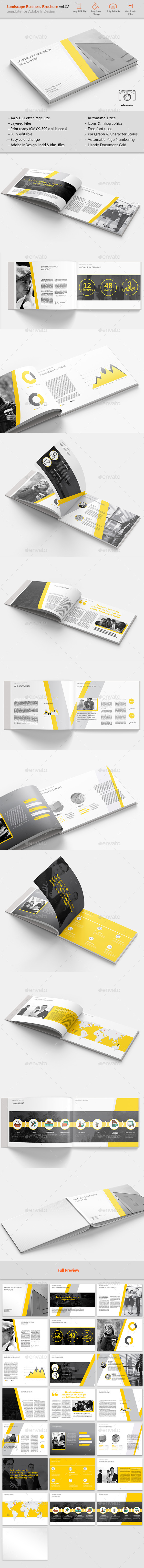 Landsape Business Brochure vol.03 - Brochures Print Templates