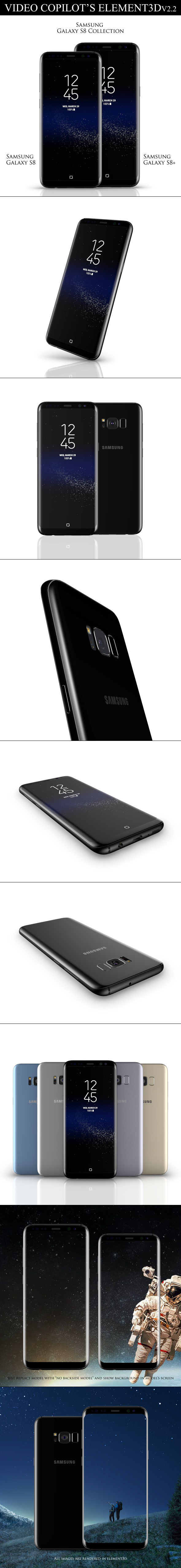 Element3D - Samsung Galaxy S8 Collection - 3DOcean Item for Sale