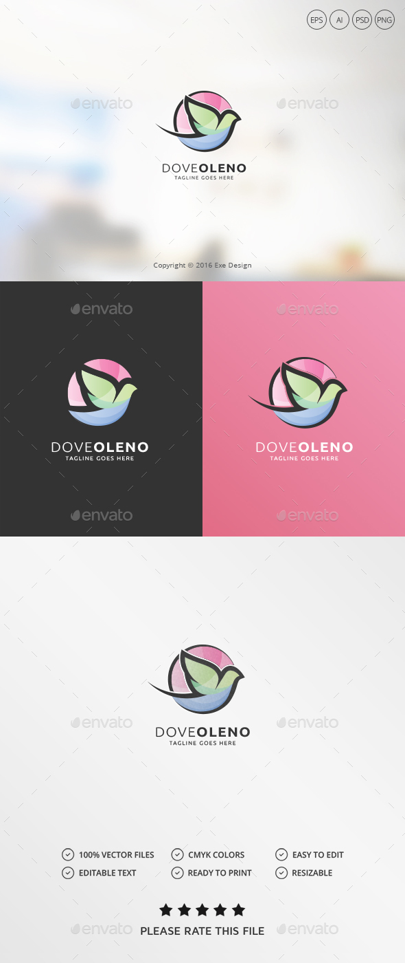 Dove Logo - Animals Logo Templates