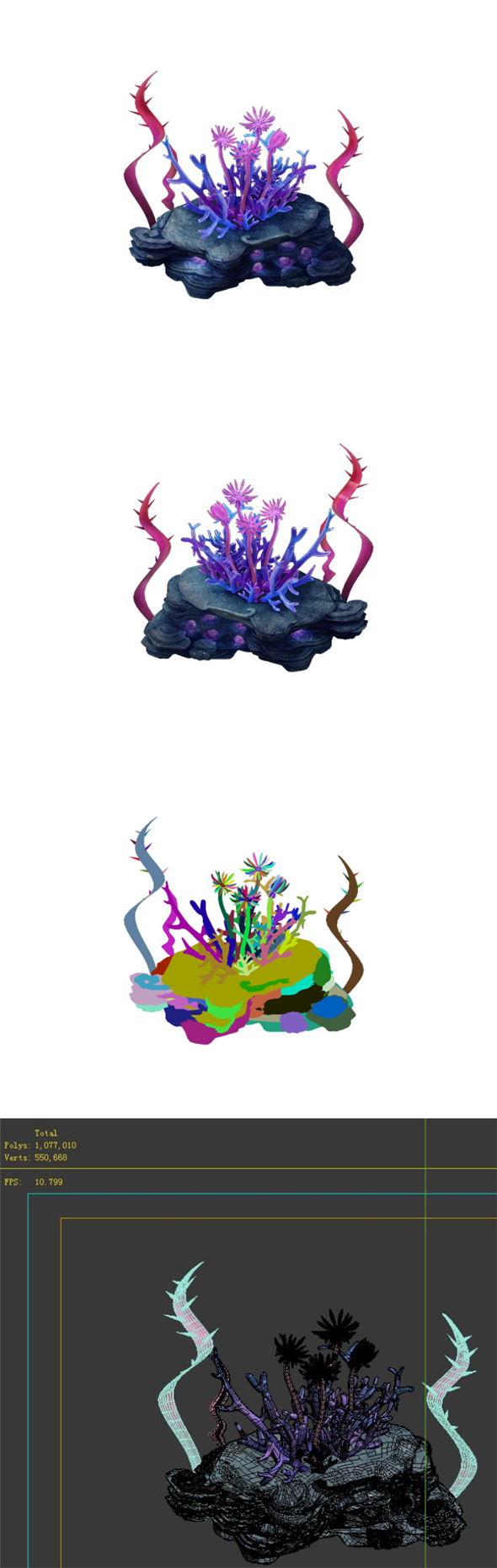 Game Model - Family Objects - Mozu Ling Coral - 3DOcean Item for Sale