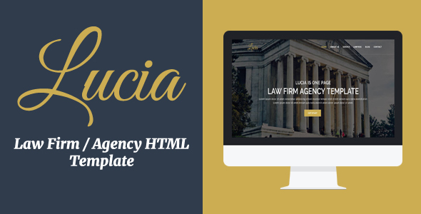 Lucia – Law Firm / Agency HTML Template