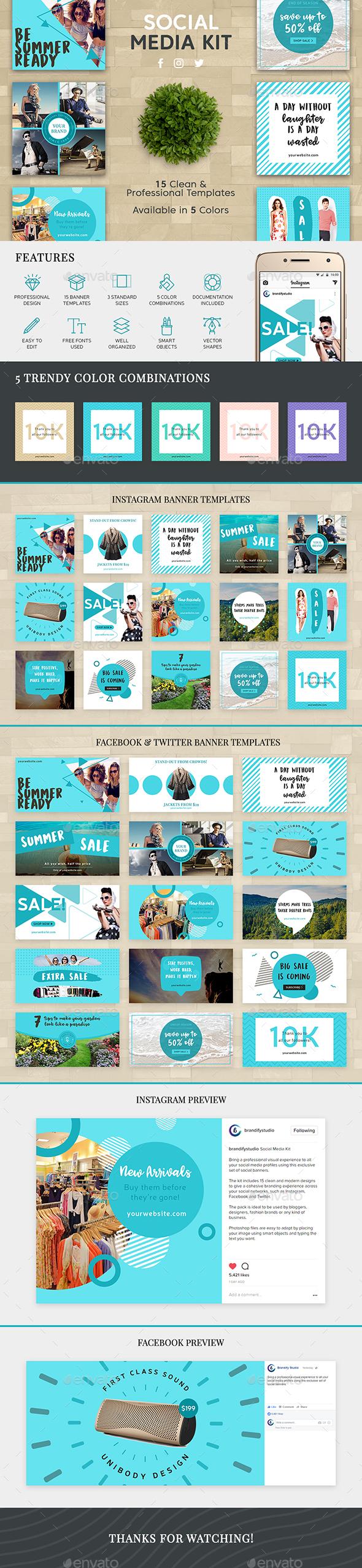 Social Media Kit - Web Elements