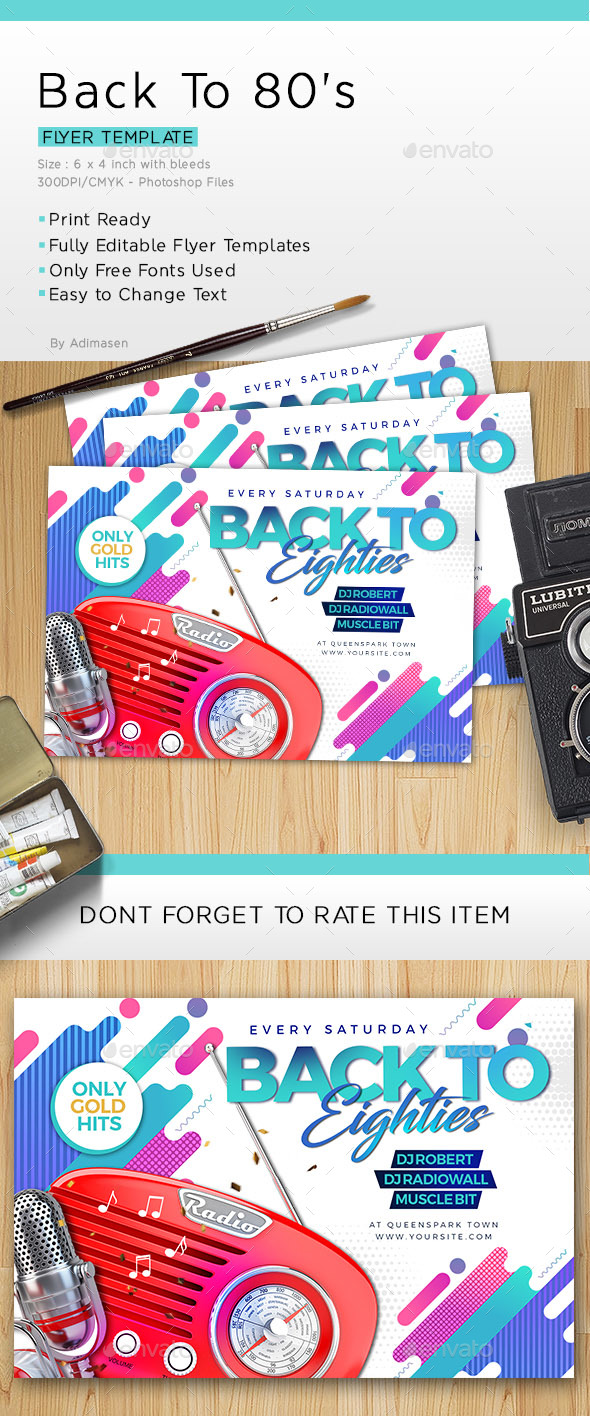 80's Flash Back flyer - Clubs & Parties Events