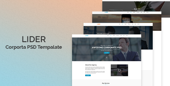 Lider –  Corporate PSD Template