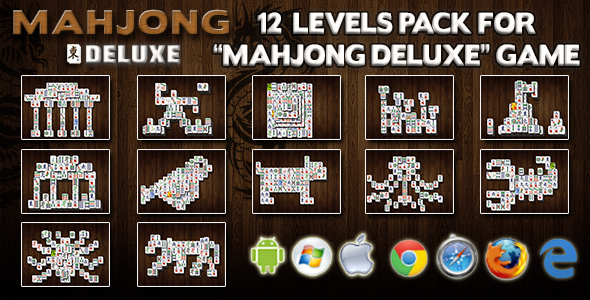 12 Levels Pack for CTL Mahjong Deluxe - CodeCanyon Item for Sale