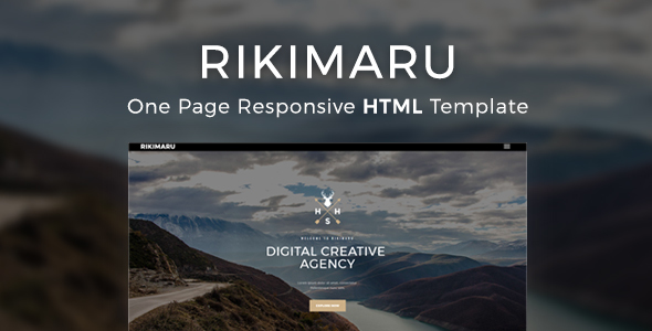 Rikimaru – Multipurpose Modern Website HTML5 & CSS3 Template