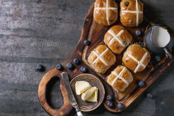 Hot cross buns - Stock Photo - Images