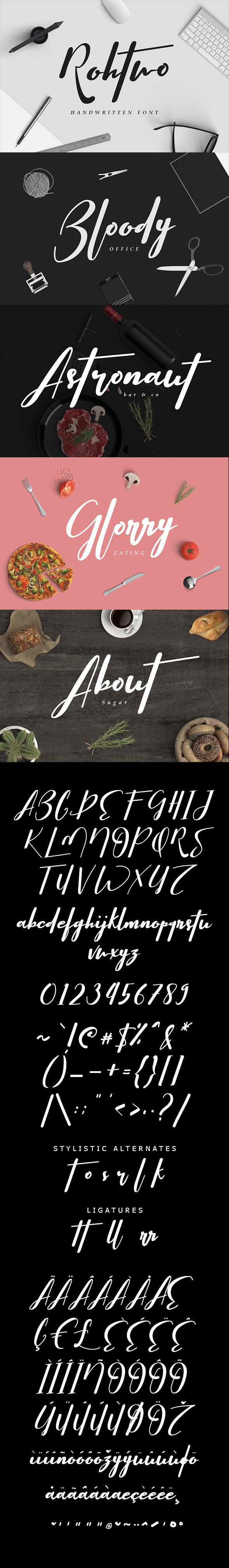 Rohtwo Bold Signature - Calligraphy Script