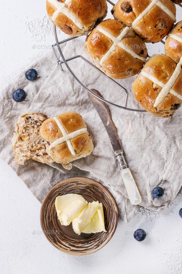 Hot cross buns - Stock Photo - Images