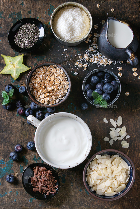 Yogurt smoothie bowl - Stock Photo - Images